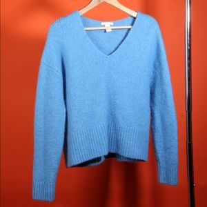 Soft Light Blue Acrylic/Wool Sweater
